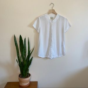 Betina Lou White Button Up Blouse Canadian Made